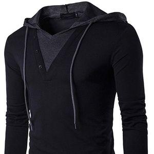 Men's Long Sleeve Hooded T-Shirt
